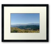 Italy - Panorama from Rocca Calascio Framed Print