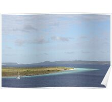 Klein Bonaire islet in the Caribbean Poster