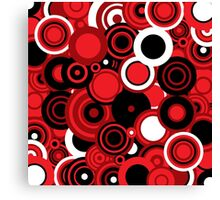 Circledelic - red/white/black Canvas Print