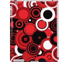 Circledelic - red/white/black iPad Case/Skin