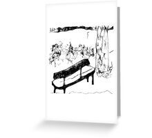 Carole and Kate's Bench Greeting Card
