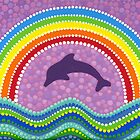 Dolphin rainbow energy by Elspeth McLean