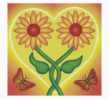 sunflower eternal love tshirt by Elspeth McLean