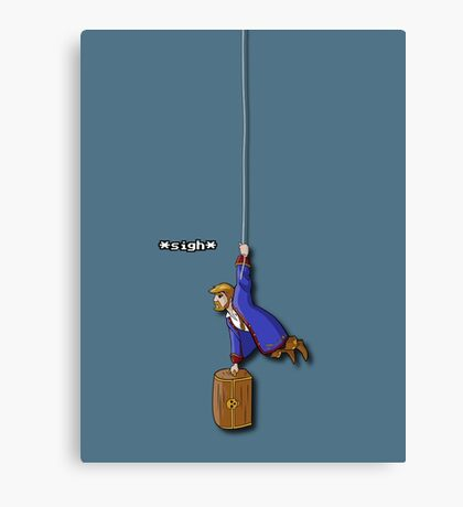 Hanging Pirate Canvas Print