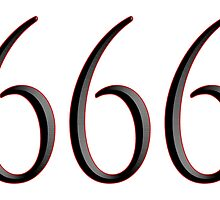 Anti Christ, 666, Devil, Number of the beast, Mark of the Beast, Satan, Bible in Revelation 13:17, 18, Bible, Revelation 13:17,18, by TOM HILL - Designer