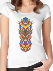 Mecha Totem Pole Women's Fitted Scoop T-Shirt