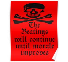 Pirate, Morale, Skull & Crossbones, Jolly Roger, Buccaneers, Me Harties! Poster
