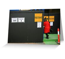 pedestrian. melbourne, australia Greeting Card
