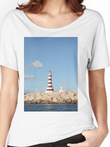 Picturesque Lighthouse in the Caribbean Women's Relaxed Fit T-Shirt