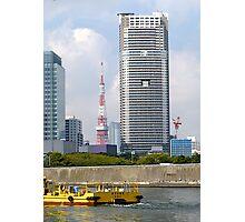 Tokyo Highrise, Sumida River, Japan Photographic Print