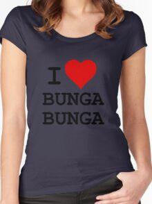 I Love BUNGA BUNGA Women's Fitted Scoop T-Shirt