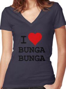 I Love BUNGA BUNGA Women's Fitted V-Neck T-Shirt