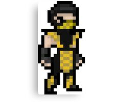 Mortal Kombat Pixel Art Scorpion Canvas Print