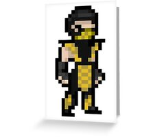 Mortal Kombat Pixel Art Scorpion Greeting Card