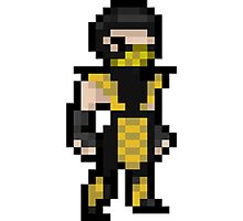 Mortal Kombat Pixel Art Scorpion Photographic Print