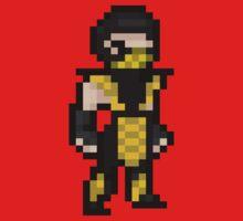 Mortal Kombat Pixel Art Scorpion One Piece - Short Sleeve