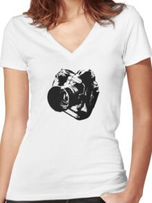 Camera from heaven Women's Fitted V-Neck T-Shirt