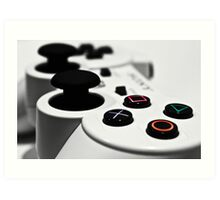 White Playstation Controller Art Print