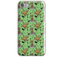 Cartoon Dog and Cat Grunge Pattern iPhone Case/Skin