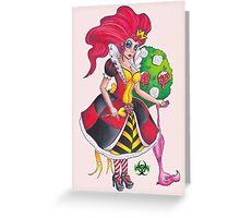 Pin-up Queen Of Hearts Greeting Card