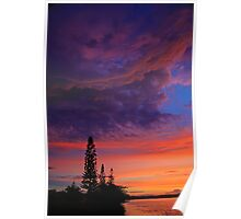'Observed'  -  Sunset over the Tweed River NSW Poster