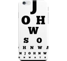 John Watson T-Shirt iPhone Case/Skin