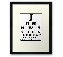 John Watson T-Shirt Framed Print