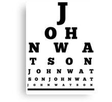 John Watson T-Shirt Canvas Print
