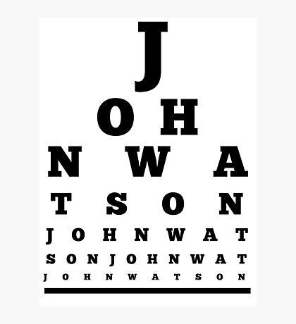 John Watson T-Shirt Photographic Print