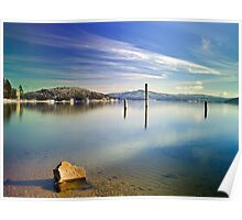 Winter color  on Lake Coeur d' Alene Poster