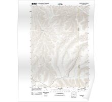 USGS Topo Map Oregon Franklin Hill 20110903 TM Poster