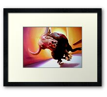 Moo!! Oils on Canvas Framed Print