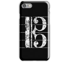 Alto Clef, Viola Key Sheet Lines Vintage White iPhone Case/Skin