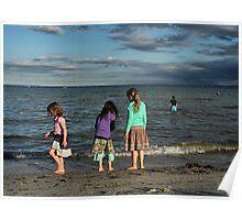 Sunset in St Leonards beach VIC Poster
