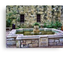 Davy Crockett Fountain - The Alamo Canvas Print