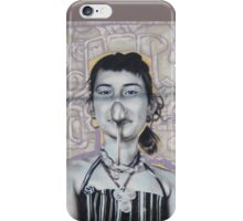 Wall art showing she nose how... * iPhone Case/Skin