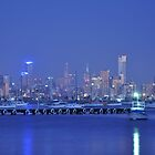 melbourne BLUE night by litratista