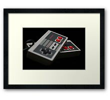 Nintendo Controllers Framed Print