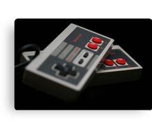 Nintendo Controllers Canvas Print