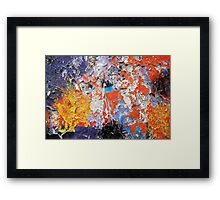 Abstract decay Framed Print