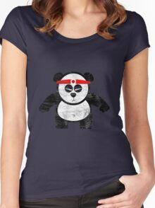 PANDA ACTION Women's Fitted Scoop T-Shirt