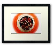 juicy cherries Framed Print