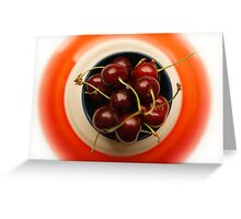 juicy cherries Greeting Card