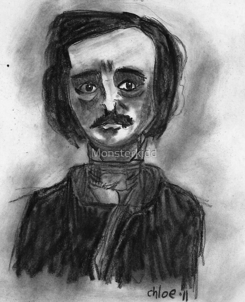 Edgar Allan Poe by Monsterkidd