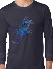 Taru-Blueberry Splash : Pale Lines Long Sleeve T-Shirt