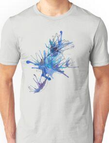 Taru-Blueberry Splash : Pale Lines Unisex T-Shirt
