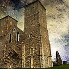 Reculver towers &amp; Roman Fort, Kent, UK  by buttonpresser