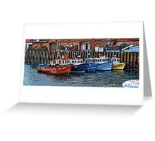 Crab Boats, Scarborough. Greeting Card