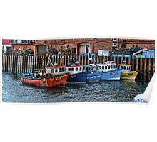 Crab Boats, Scarborough. Poster