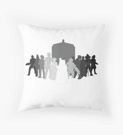 enemies of the doctor Throw Pillow